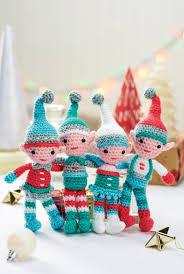 a family of crocheted christmas elves crochet pattern crochet