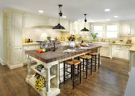 Farmhouse Island Lighting Farmhouse Sink Butcher Block Counter Kitchen Traditional With