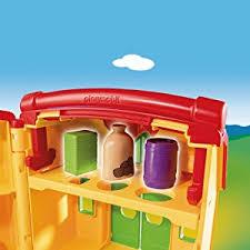 Mobile Play Barn Playmobil 6962 1 2 3 Take Along Farm With Sorting Function Amazon