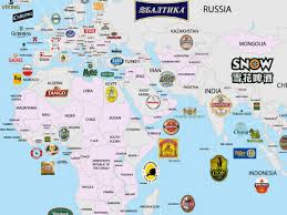Maps Around The World by The Beer Globe Which Breweries Dominate All Over The World Food