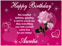 Samples Of Birthday Greetings Happy Birthday Aunt Greetings And Messages