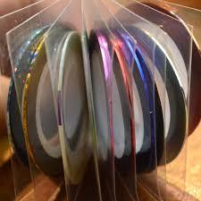 aliexpress com buy 1x retail 10 colors nail art tape lace line