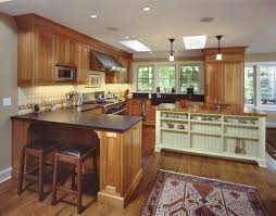Arts And Crafts Kitchen Design Cherry Cabinets With Granite Countertops Kitchen Traditional With
