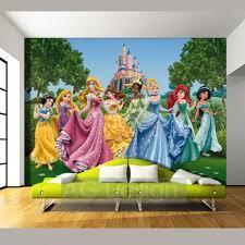 disney princesses and castle wallpaper great kidsbedrooms the home disney princesses and castle wallpaper