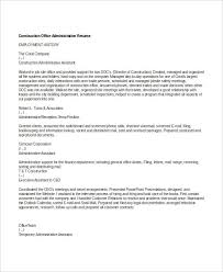 office admin resume administration resume examples 28 free word pdf documents