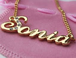 Gold Plated Name Necklace 18 Karat Gold Plated Name Necklace Sonia