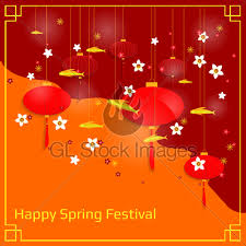 lanterns new year new year banner with paper lanterns and flowers gl