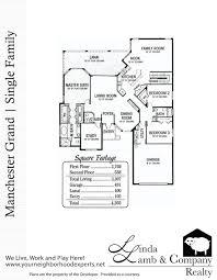 manchester grande single family floor plan heritage palms linda