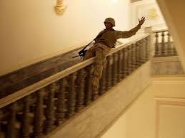 Sliding Down Banister Us Soldier Slides Down The Banister In One Of Saddam Hussein U0027s