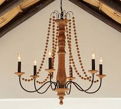 Candle Chandelier Pottery Barn Turned Wood Indoor Outdoor Chandelier Pottery Barn