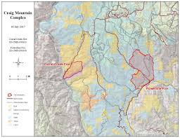 Idaho Fires Map Update On Craig Mountain Complex Fires Dailyfly Com Lewis Clark