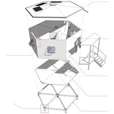 Octagon Shaped House Plans Architects For Society Creates Low Cost Hexagon Refugee Houses