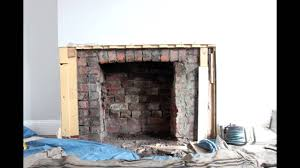 fireplace breakout and installation of flavel arundel youtube