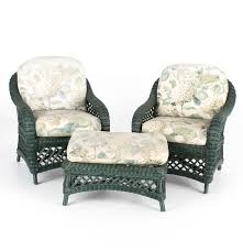 Outdoor Wicker Chair With Ottoman Henry Link Wicker Chairs And Ottoman Ebth