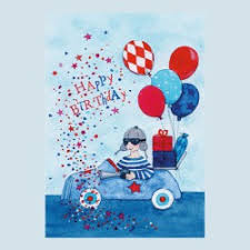 grätz verlag postcard happy birthday card car maman et bebe