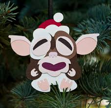 tiki gizmo gremlin inspired ornament greeting card papercraft