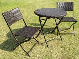 Wicker Bistro Table And Chairs Folding Patio Table And Chair Set Home Design Ideas And Pictures