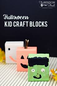 kid halloween craft blocks the benson street