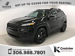2017 jeep altitude black new jeep cherokee in regina crestview chrysler