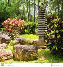 Japanese Garden Walls by Small Pagoda On A Japanese Garden Stock Photo Image 26130760