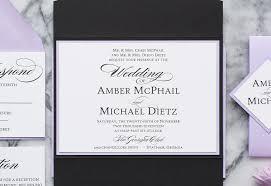 Black Wedding Invitations Amber Formal Wedding Invitation Suite All That Glitters