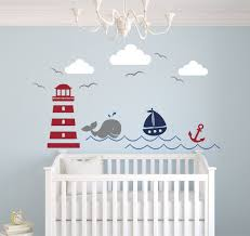 amazon com nautical theme wall decal nautical decor nursery amazon com nautical theme wall decal nautical decor nursery wall decal whale and sailboat vinyl baby nursery decor baby
