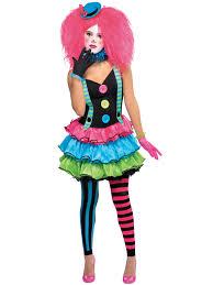 ladies clown costume adults cool halloween fancy dress womens