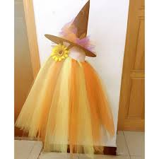 Aliexpress Com Buy Scarecrow Halloween Pumpkin Tulle Tutu