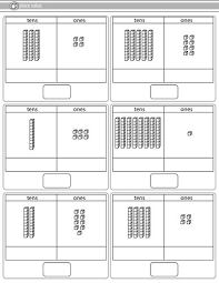 tens and units worksheets printable best 25 tens and ones worksheets ideas on tens and