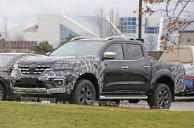 renault pickup truck spied 2019 nissan frontier crash test mule