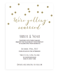 gold confetti wedding invitation papersizzle