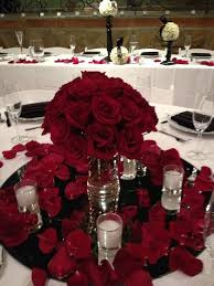 roses centerpieces wedding centerpieces