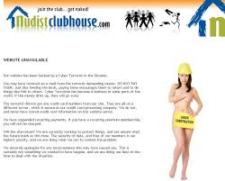 site unavailable nudist clubhouse website unavailable message about being hacked