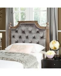 Tufted Upholstered Headboard Amazing Deal On Safavieh Rustic Tufted Upholstered Headboard Grey