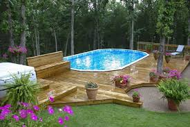 above ground pools in ground decked out pools pinterest