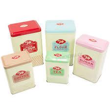 tala 5 pc vintage style kitchen storage canisters flour tins tea