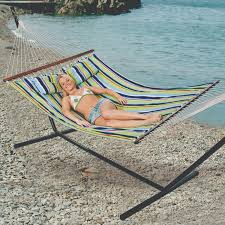 antigua cotton double hammock with stand stansport com