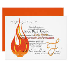 confirmation invitation catholic confirmation invitations announcements zazzle