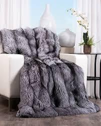 Faux Fox Fur Throw Faux Fur Arctic Fox Blanket Sham Pier 1 Imports Bedding Comforter
