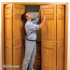 How To Rehang Sliding Closet Doors How To Fix Stubborn Bifold Closet Doors Family Handyman