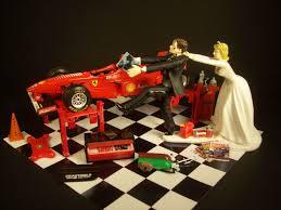 car wedding cake toppers auto mechanic come back f1 formula 1 race car w