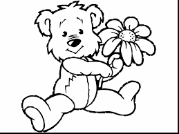 excellent spring flower coloring pages for kids with kids color