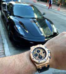 gold and black ferrari experience ferrari f430 scuderia and the audemars piguet royal