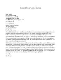 general cover letter for job the letter sample
