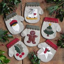 warm mittens ornaments pattern by s of greenfield