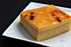 cassava cake with creamy custard topping manila spoon