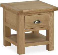 Lamp Tables Buy Global Home Cheltenham Oak Lamp Table With Drawer Online Cfs Uk