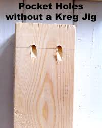 how to make pocket holes without a kreg jig in city