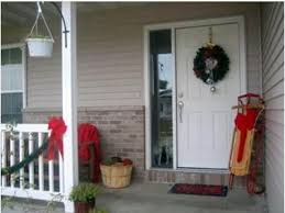 Christmas Decorations For Outside Door by Holiday Porch Decorating Pictures Winter