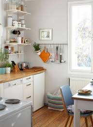 kitchen simple interior furniture and enlightened by round